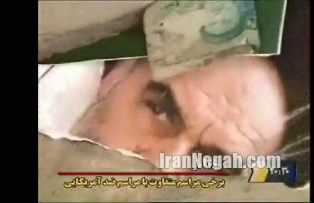 تصویری از فیلم توهین به عکس امام و اندیشۀ امام پخش شده از 20:30